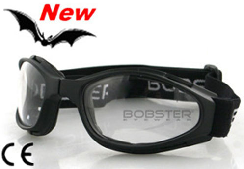 Crossfire Clear Lens Folding Goggles, by Bobster