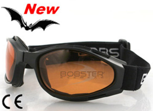 Crossfire Amber Lens Folding Goggles, by Bobster