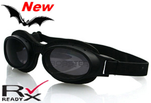 Slimline Smoked Reflective Lens Goggles, by Bobster^