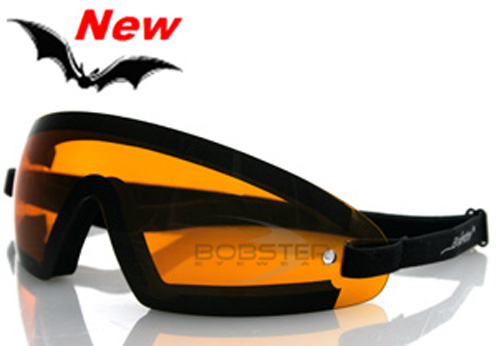 Wrap Around Amber Lens Goggles, by Bobster