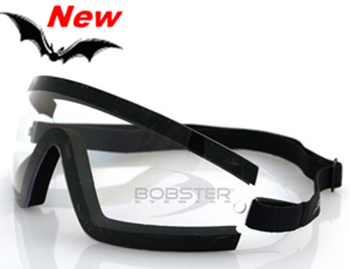 Wrap Around Clear Lens Goggles, by Bobster