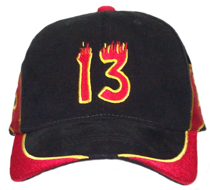 Double Sided Flames #13 Cap