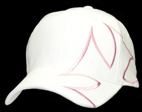 Lg Outline Pink-Wt Chopper Cap