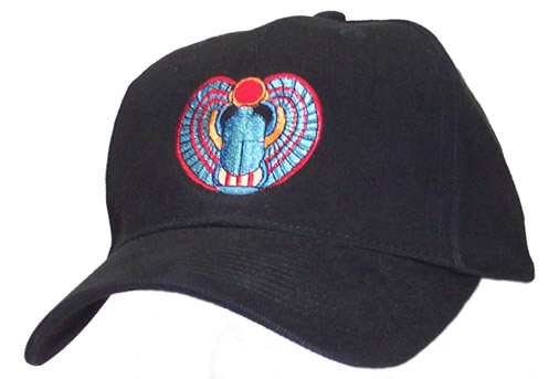 Open Winged Scarab Cap
