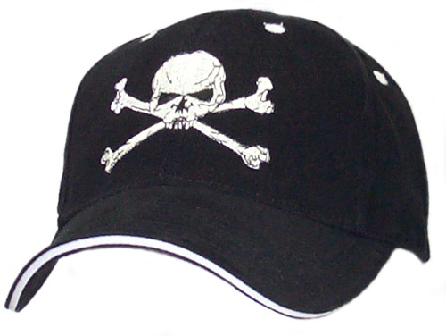 Skull & Cross Bone Black Cap