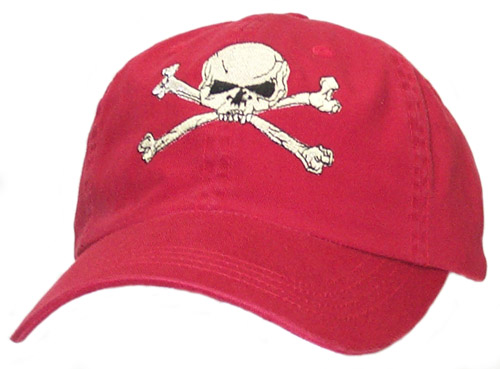 Skull & Cross Bone Red Cap