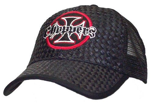 Choppers Straw Black Cap