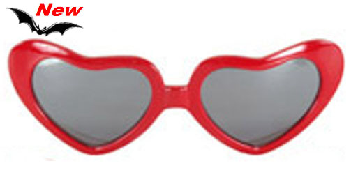 Sweet Heart, Red Mirrored Sunglasses