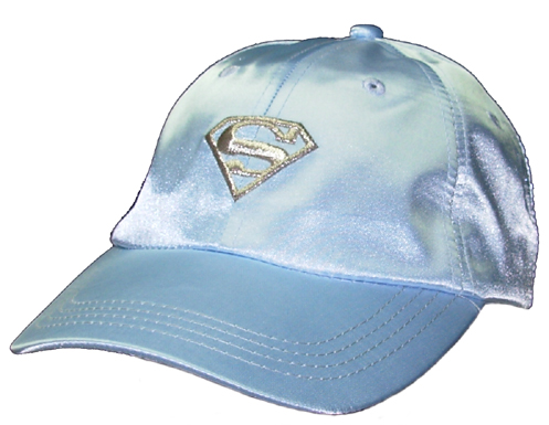 Supergirl Lt.Blue Satin Cap