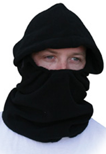 Black Clench Front Fleece, Balaclava