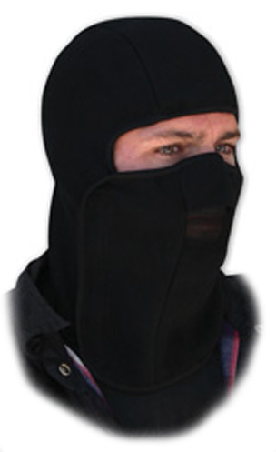 Black Velcro Closure Fleece, Balaclava