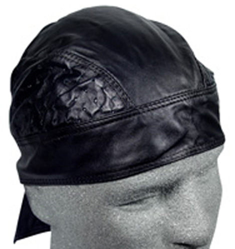 Black Vented, Leather Headwrap