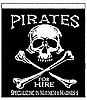 "Pirates for Hire 18""x24"" Banner"